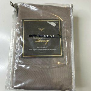 fieldcrest luxury euro sham NWTs color brown one s